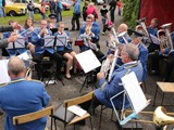 Newmills Silver Band entertaining the crowd