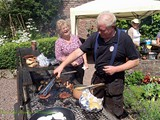 BBQ in the Walled Garden all who helped with getting the Village ready for Ulster in Bloom (1)