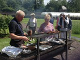 BBQ in the Walled Garden all who helped with getting the Village ready for Ulster in Bloom (14)