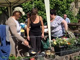 BBQ in the Walled Garden all who helped with getting the Village ready for Ulster in Bloom (3)